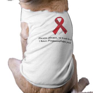"Canine Megaesophagus Support Ribbon ""No Treats"" Pet T-shirt"