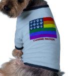 Canine Nation (white paws) Dog Shirt