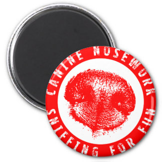 Canine Nosework, Sniffing for Fun 2 Inch Round Magnet