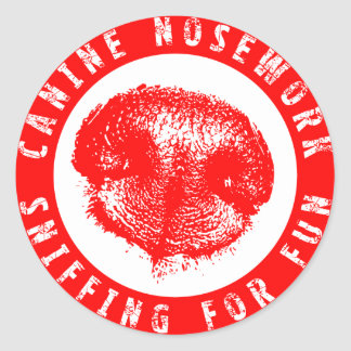 Canine Nosework, Sniffing for Fun Classic Round Sticker