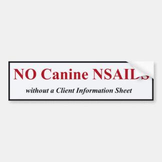 Canine NSAID BumperSticker (Red) Bumper Sticker