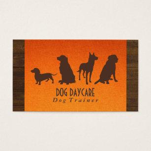 Fabric business cards templates zazzle canine pack dog training wood fabric business card colourmoves Choice Image