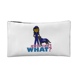 Canine Police Officer Makeup Bags