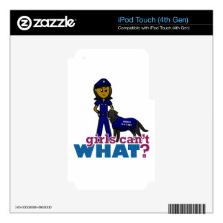 Canine Police Officer iPod Touch 4G Decals
