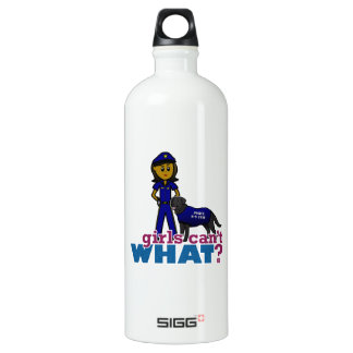 Canine Police Officer Water Bottle