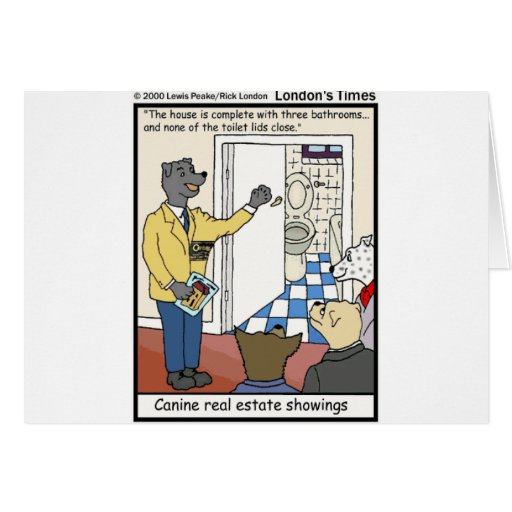 Canine Real Estate Sales Funny Gifts & Tees Greeting Card