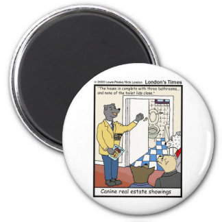 Canine Real Estate Sales Funny Gifts & Tees Fridge Magnets