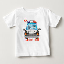 Canine Unit Policeman and Police Dog Baby T-Shirt