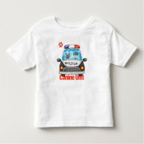 Canine Unit Policeman and Police Dog In Car Toddler T-shirt