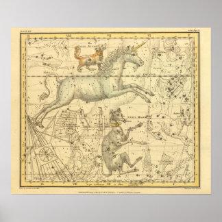 Canis Major, Canis Minor, Monoceros, Argo Navis Poster