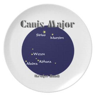 canis major dark-blue dinner plate