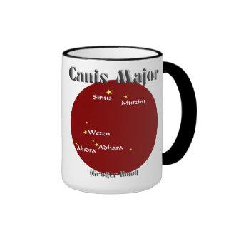 canis major dark red and light blue ringer mug