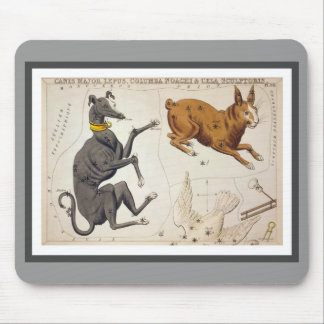 Canis Major, Lepus, Columba Noachi and Cela Mouse Pad