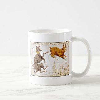 Canis Major, Lepus, Columba Noachi and Cela Sculpt Coffee Mug