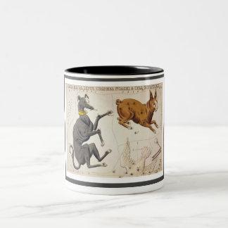 Canis Major, Lepus, Columba Noachi & Cela Two-Tone Coffee Mug