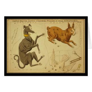 Canis Major, Lepus, Columba Noachi Cela Sculptoris Greeting Card