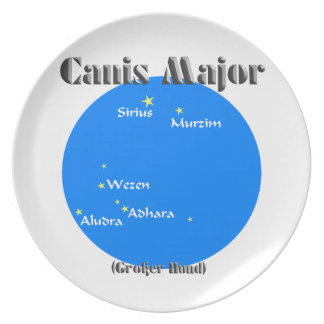 canis major light blue dinner plate