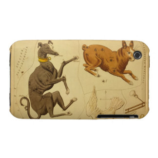 Canis Major Vintage Astronomical Star Chart Image iPhone 3 Covers