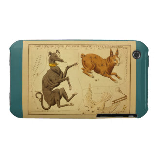 Canis Major Vintage Astronomical Star Chart Image iPhone 3 Case