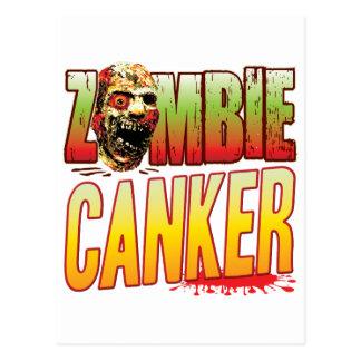 Canker Zombie Head Postcard