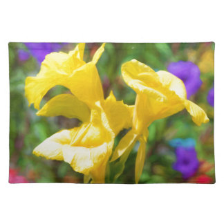 Canna Lilly Cloth Placemat