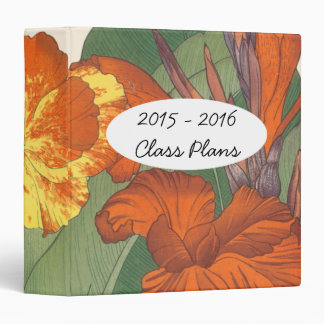 Canna Lily Teachers Class Plans 3 Ring Binder