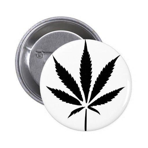 cannabis hemp leaf button