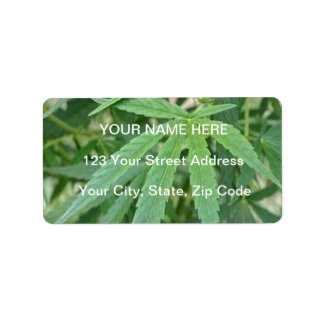 Cannabis Plant Marijuana Leaf Address Labels