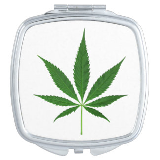 CANNABIS REX (marijuana leaf design) ~ Compact Mirror