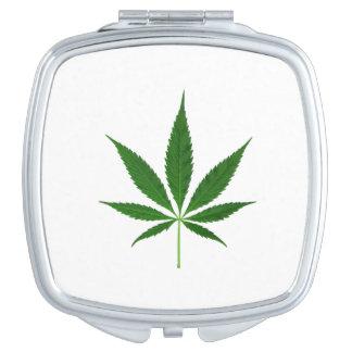 CANNABIS REX (marijuana leaf design) ~ Mirror For Makeup