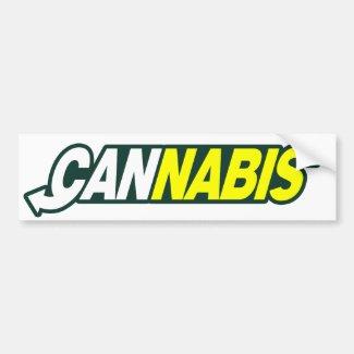 Cannabis Smoke Fresh Bumper Stickers