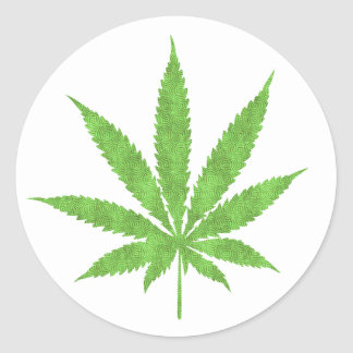 Cannabis The Miracale Leaf Classic Round Sticker