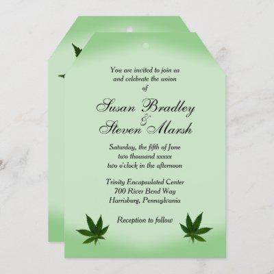 Cannabis Ticket Wedding Invitation