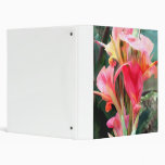 Cannas Pretty in Pink 3 Ring Binder