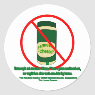 Canned Cheese Classic Round Sticker