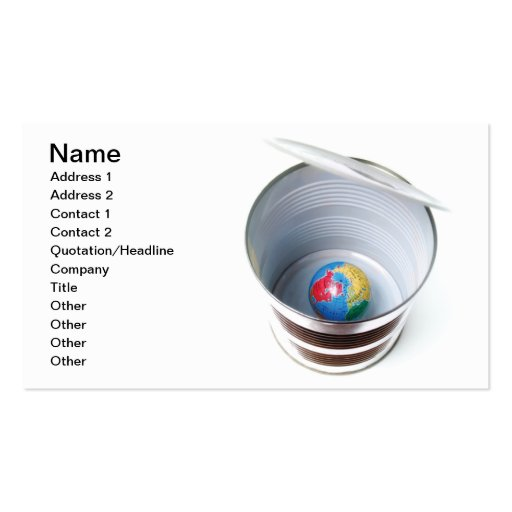 Canned Earth Business Card