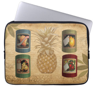 Canned fruit pineapple laptop sleeve