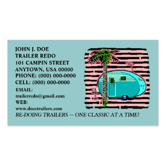 CANNED HAM VINTAGE TRAVEL TRAILERS BUSINESS CARDS! Double-Sided STANDARD BUSINESS CARDS (Pack OF 100)