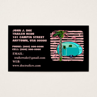 CANNED HAM VINTAGE TRAVEL TRAILERS BUSINESS CARDS! BUSINESS CARD