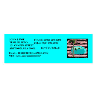 CANNED HAM VINTAGE TRAVEL TRAILERS PROFILE CARDS! MINI BUSINESS CARD