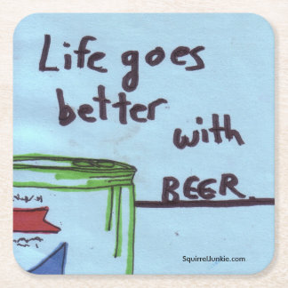 """""""Canned Happiness"""" drink coasters for beer lovers!"""