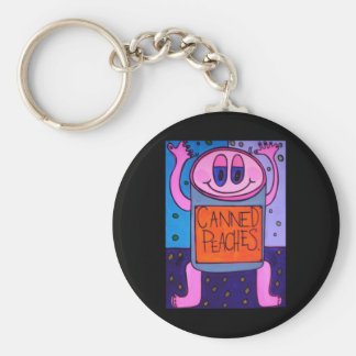 canned peaches Keychain
