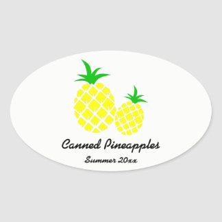 Canned Pineapples Preserves Label