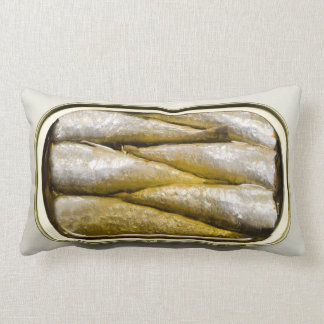 Canned Sardines Throw Pillow