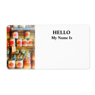 Canned Tomatoes Label