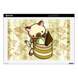 "Cannelle Apple Kitty 17"" Laptop Skins"