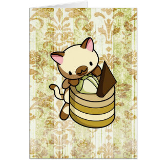 Cannelle Apple Kitty Card