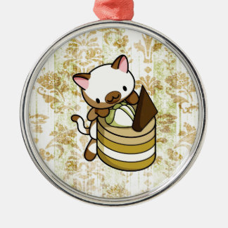Cannelle Apple Kitty Metal Ornament