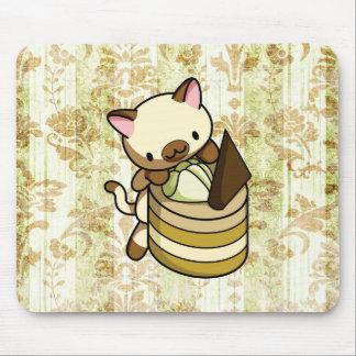 Cannelle Apple Kitty Mouse Pad