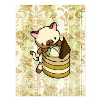 Cannelle Apple Kitty Postcard